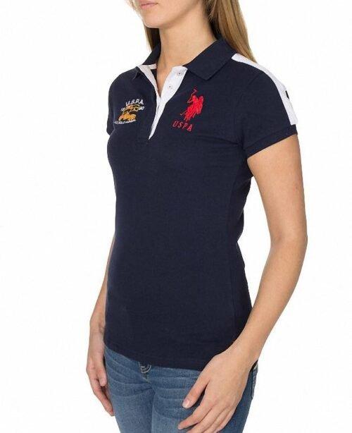 Polo US Polo Assn Flag Logo azul