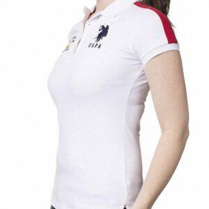 Polo US Polo Assn Flag Logo blanco