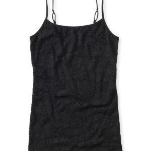 Basica Aeropostale Lace front cami negro