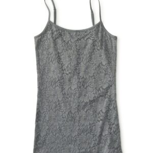 Basica Aeropostale Lace front cami gris