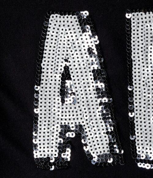 Camiseta Aeropostale Graphic T con lentejuelas negro