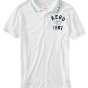 Camiseta Polo Aeropostale NY 1987 Logo blanco