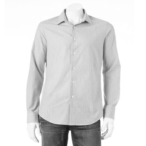 Camisa Apt 9 modern fit a rayas manga larga