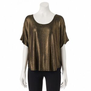 Blusa Juicy Couture Metallic Cuello bandeja