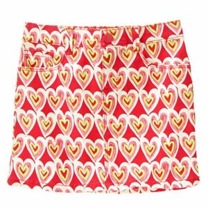 Falda Gymboree Scribble Heart rojo