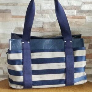 Cartera Tommy Hilfiger Medium Iconic satchel franjas azul