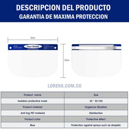 Caretas de proteccion importadas certificadas FDA de USA
