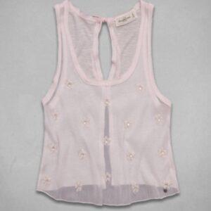 Blusa Abercrombie Carissa Shine rosado