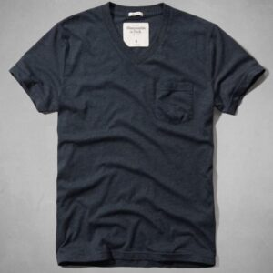 Camiseta Abercrombie muscle Pocket V-neck azul marino