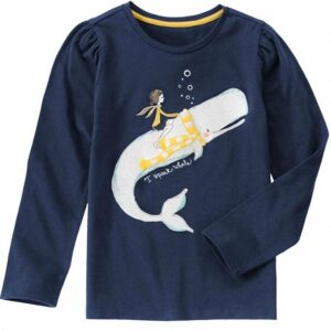 Camiseta Gymboree I Speak Whale Sparkle azul oscuro