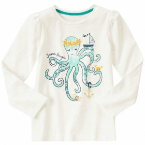 Camiseta Gymboree Free Hugs Octopus blanco