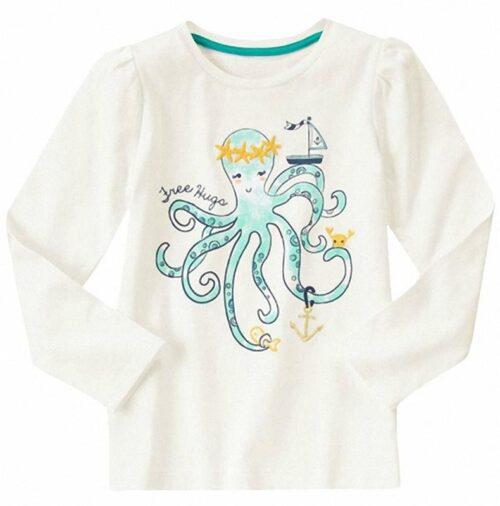 Camiseta Gymboree Free Hugs Octopus blanco