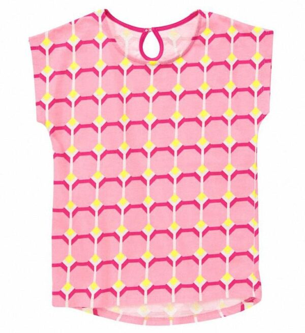 Camiseta Gymboree Geo Print rosado