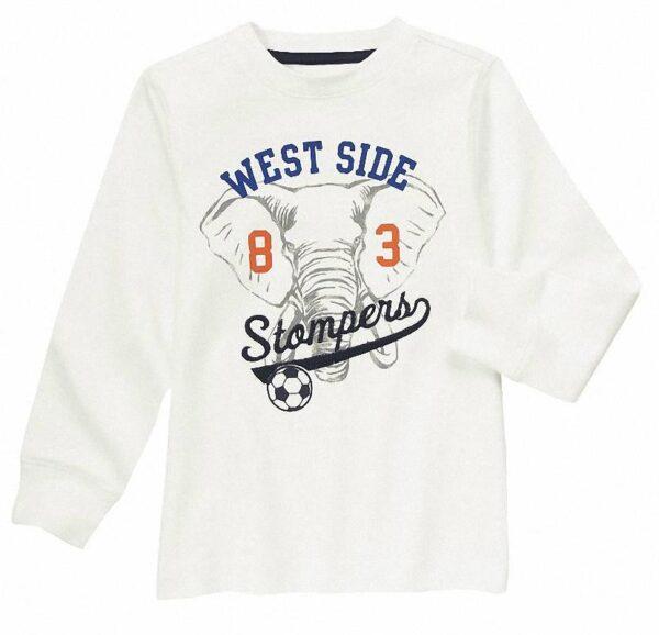 Camiseta Gymboree Elephant Soccer blanco
