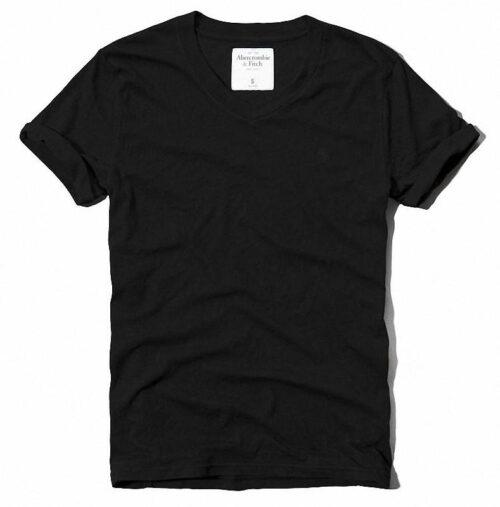 Camiseta Abercrombie Catamount Rolled Cuff negro