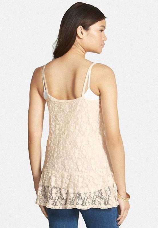 Blusa Frenchi Lace Tunic Camisole