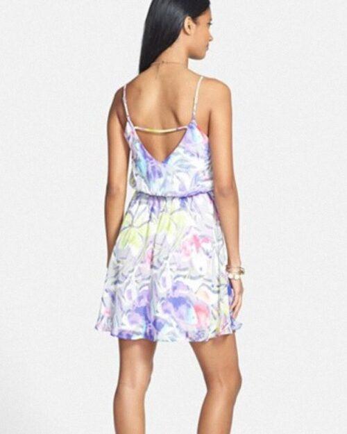 Vestido Everly Floral Print Strap Detail