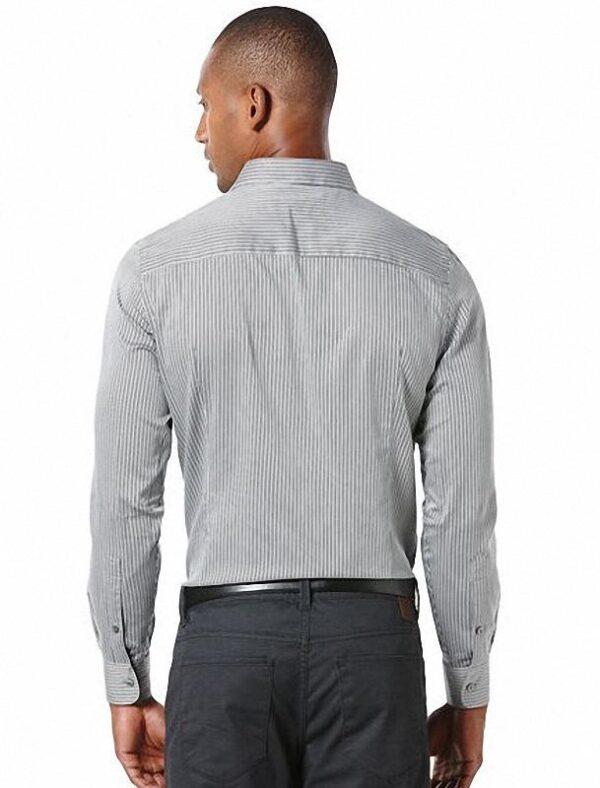 Camisa Perry Ellis Slim Fit Herringbone Stripe