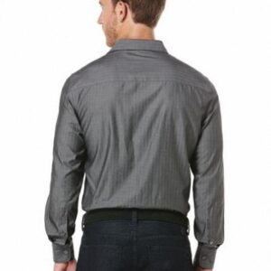 Camisa Perry Ellis Long Sleeve Herringbone