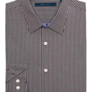 Camisa Perry Ellis Point Collar Stripe negro