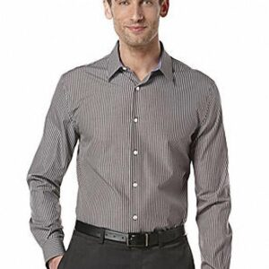 Camisa Perry Ellis Point Collar Stripe negro