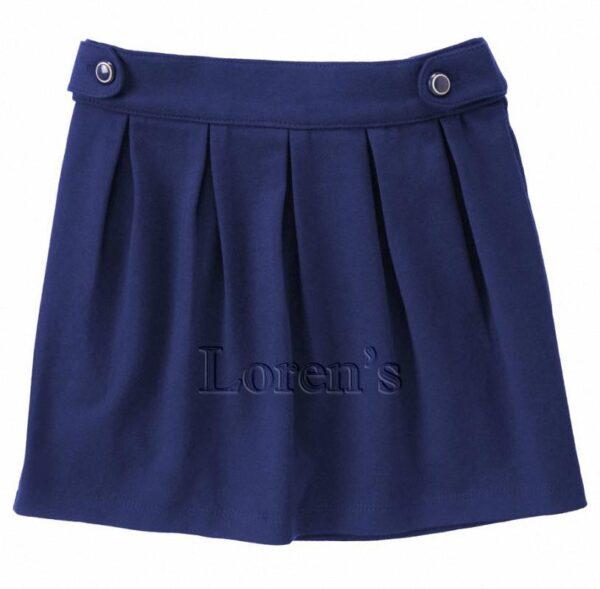 Falda Gymboree Button Tab azul