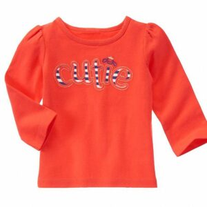 Camiseta Gymboree Cutie manga larga naranja