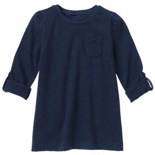 Camiseta Gymboree Slub Jersey con bolsillo azul marino