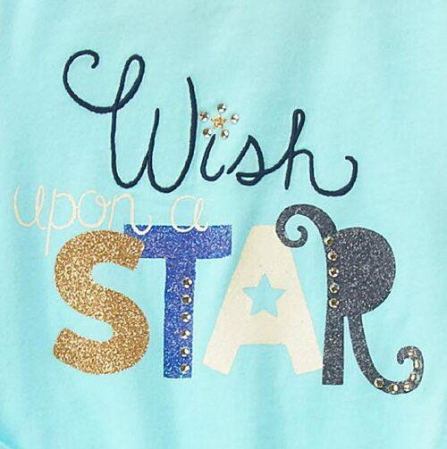 Camiseta Gymboree Wish Upon a Star manga larga turquesa