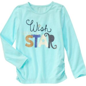 Camiseta Gymboree Wish Upon a Star manga larga turquesa