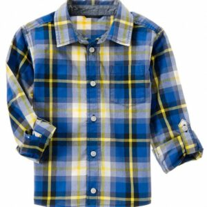 Camisa Gymboree Plaid a cuadros manga larga azul