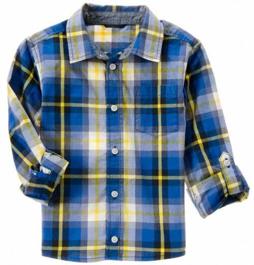 Camisa Gymboree Plaid a cuadros manga larga azul