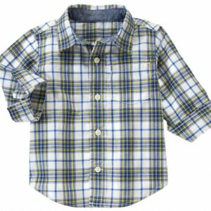 Camisa Gymboree Plaid a cuadros manga larga blanco