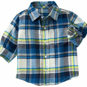 Camisa Gymboree Plaid flannel a cuadros manga larga azul
