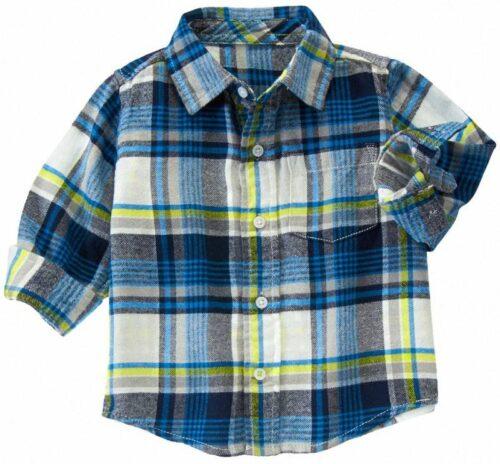 Camisa Gymboree Plaid flannel a cuadros manga larga azul
