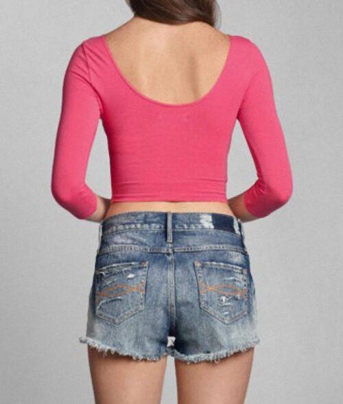 Blusa Abercrombie Madeline manga larga rosado
