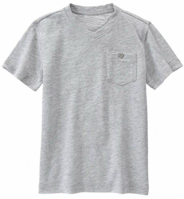 Camiseta Gymboree cuello v con bolsillo gris