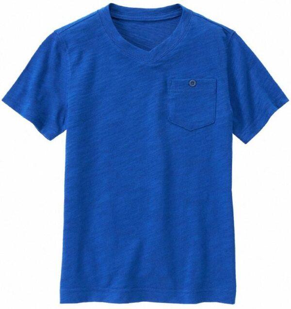 Camiseta Gymboree cuello v con bolsillo azul