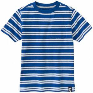Camiseta Gymboree a rayas con bolsillo manga corta azul
