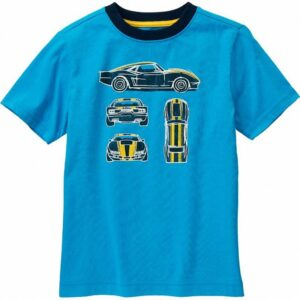 Camiseta Gymboree Racecar manga larga celeste
