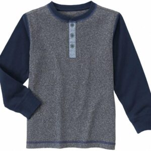 Camiseta Gymboree Raglan Henley manga larga azul marino