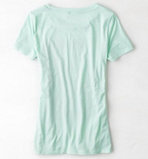 Camiseta American Eagle Scoop Neck Graphic manga corta turquesa