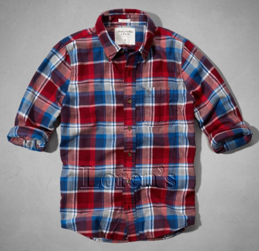 Camisa Abercrombie Rocky Falls a cuadros rojo