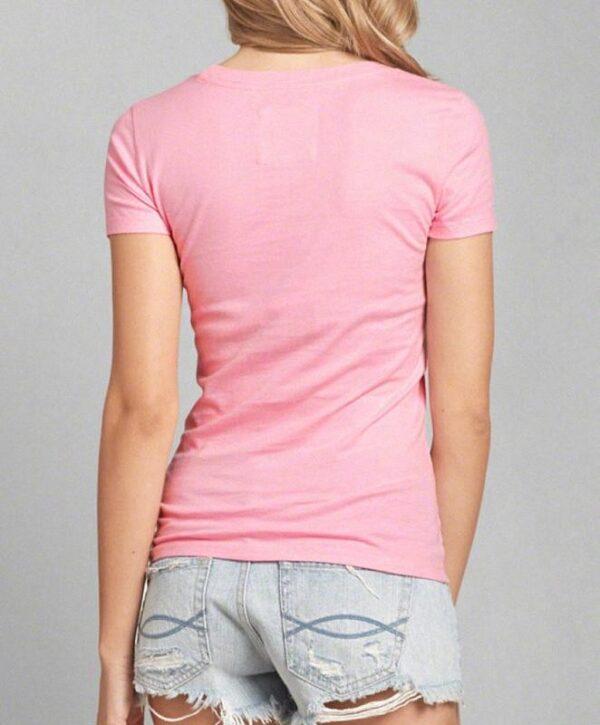 Camiseta Abercrombie Classic Logo Graphic palo rosa