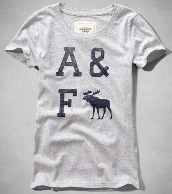 Camiseta Abercrombie Classic Logo Graphic gris