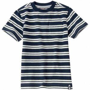 Camiseta Gymboree a rayas con bolsillo negro