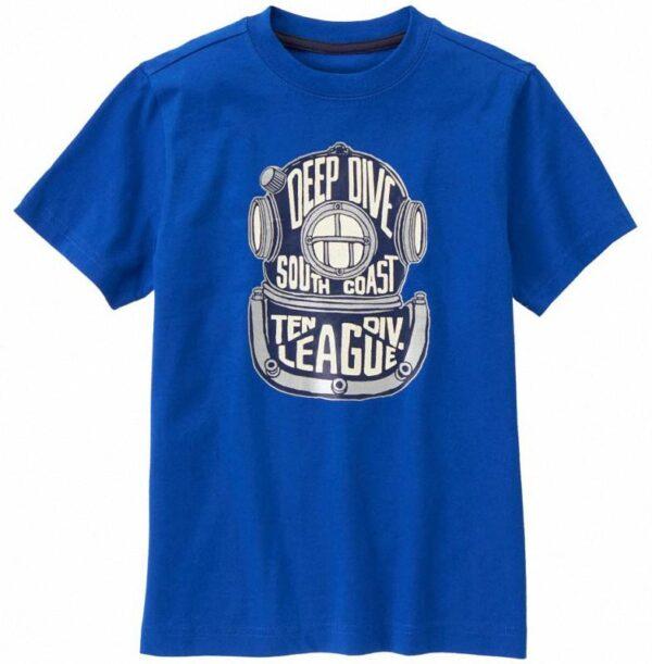 Camiseta Gymboree Scuba Helmet azul