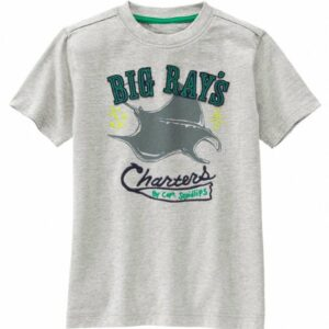Camiseta Gymboree Big Ray's Charters