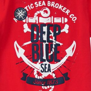 Camiseta Gymboree Deep Blue Sea rojo