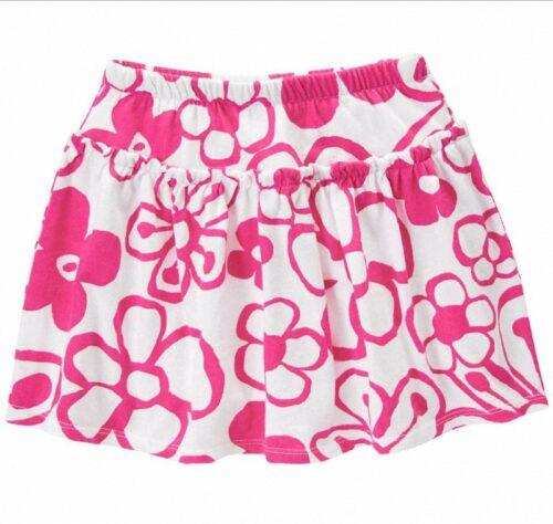 Falda Short Gymboree Drawn Flower rosado